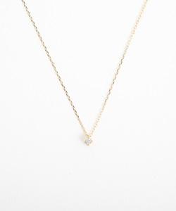 K10YGレイヤー ダイヤモンド ネックレス