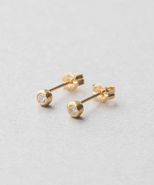 K18 ダイヤモンド 0.1ct ピアス「ブライト」