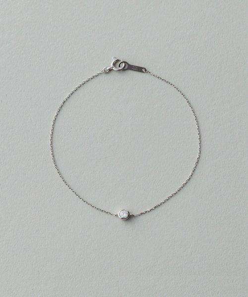 PT900 ダイヤモンド 0.1ct ブレスレット「ブライト」