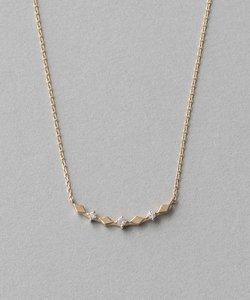 K10YGレイヤー ダイヤパターン ネックレス