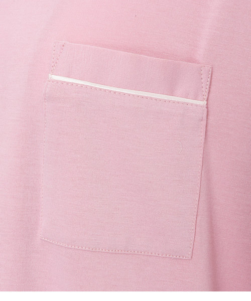【中村アン×PJコラボ!とろみ素材のしっとり大人パジャマ】PJ/バイカラーシャツパジャマセット