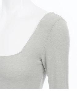 【吸湿発熱素材で薄くてもあたたかい!】It'sホッティレーシィ9分袖