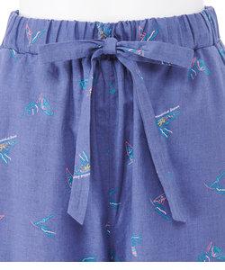 コットンリネンサマーシャツパジャマ