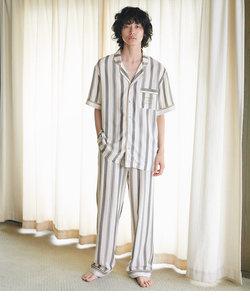 メンズプリンテッドリラックスシャツパジャマ
