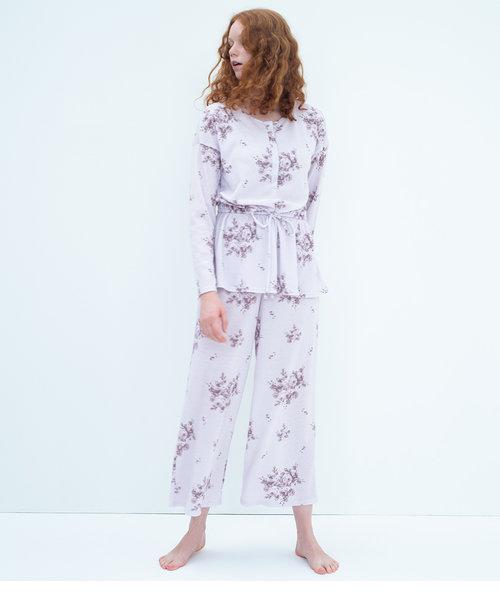 【一枚2役のナイトブラ内蔵パジャマ。就寝中のバストをサポートして安心】一気に着られる!ナイトブラ内蔵パジャマ