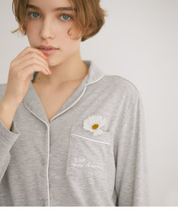 PICK&MIX長袖パジャマシャツ