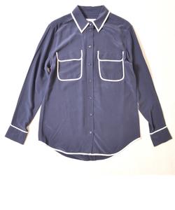 EQUIPMENT ラインシルクシャツ