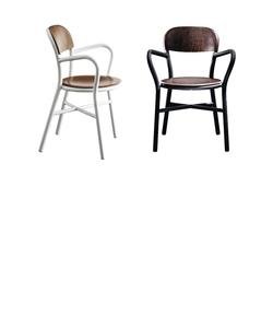 【受注生産品】Pipe Chair パイプチェア ウッド(アーム付)