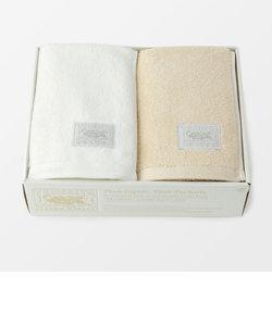 超甘撚りエクストラリッチバスタオル2枚セット(ホワイト・生成)