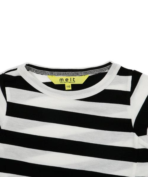melt | ワイドボーダーツイストナガソデTシャツ