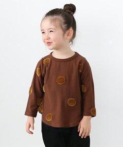 ポコポコドット天竺 長袖 Tシャツ