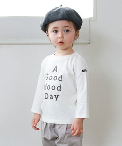 16/- ソフト天竺 'good mood' 長袖 Tシャツ