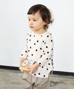 ポコポコドットジャガード天竺 9分袖Tシャツ