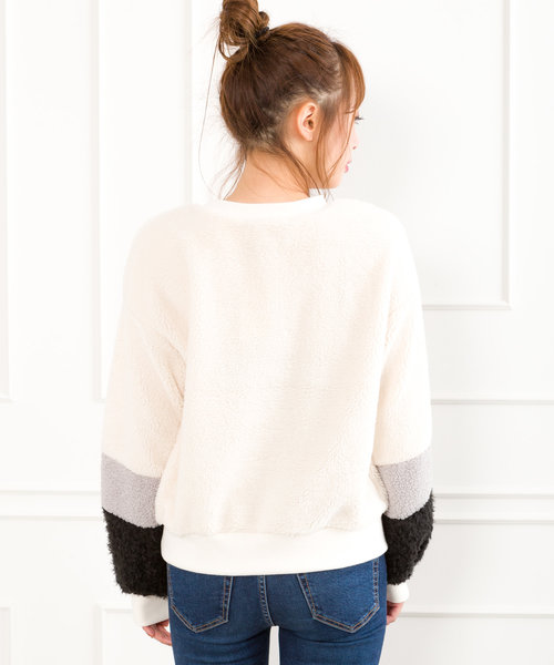 【WEB限定】袖切替ボアボリューム袖
