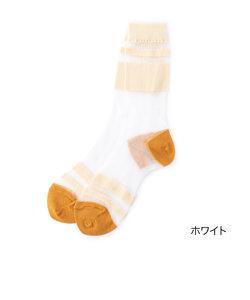 fukuske 毛混×テグス クルー丈ソックス
