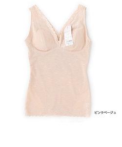 満足 【メリハリサポート】 カップ付き ランニング型 シャツ