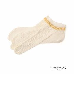 fukuske ストライプ 足袋型 ショート丈ソックス
