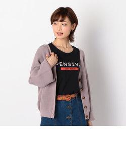 ワッフル編みカーデ