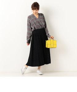 ケーブル編みロングスカート