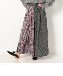 a-小紋柄アソートフレアスカート