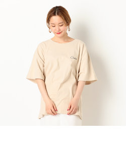 A-BACKプリントチビロゴ刺繍Tee