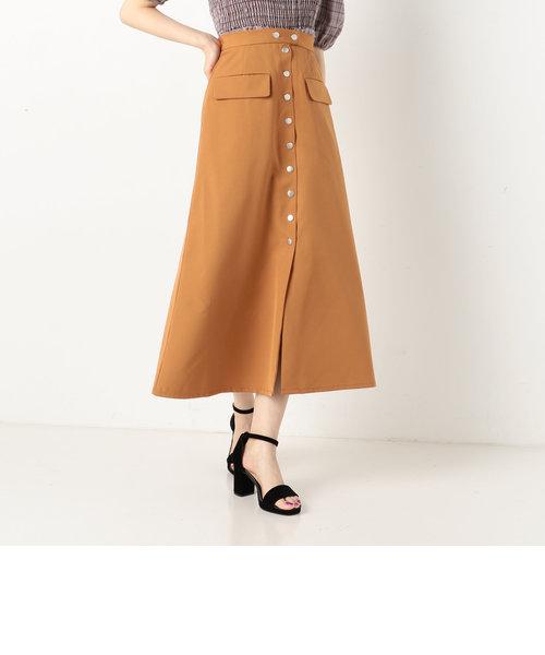 A-ドット釦Aラインスカート