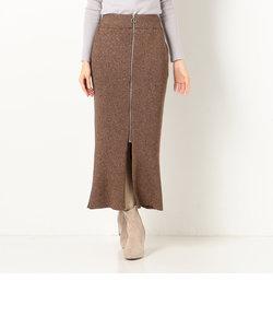 A-ロングリブZIPスカート