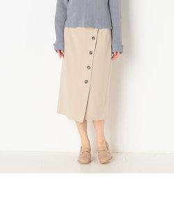 ラップボタンタイトスカート