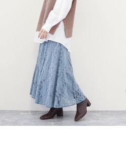 起毛レースマーメイドスカート