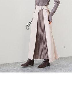 A-異素材ラップ風ミリタリースカート