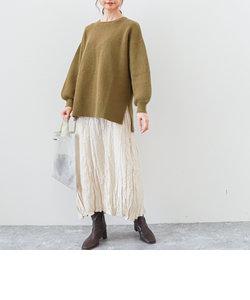 畦編みチュニックPO+シワ加工ワンピースSET