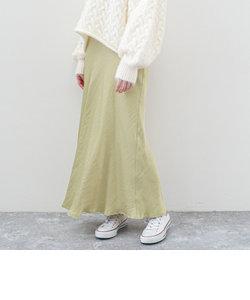 マットサテンセミフレアスカート