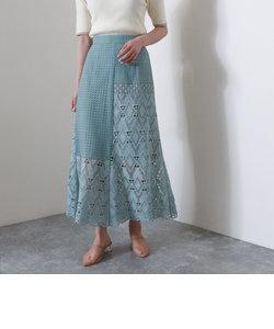 パネルレースマーメイドスカート