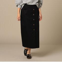 釦付ロングタイトスカート