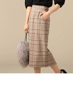 タータンチェックロングタイトスカート