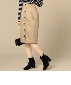 【Hamac】フロントボタンタイトスカート