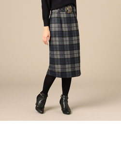 【Hamac】ベッコウベルトタイトスカート