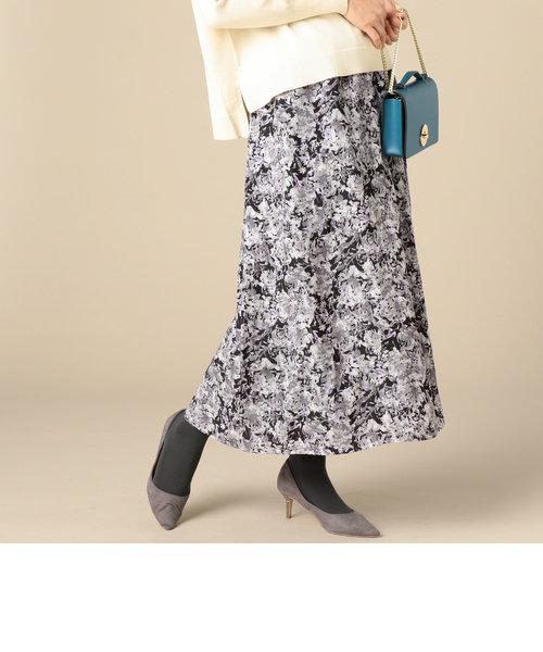 割繊デシン花柄スカート