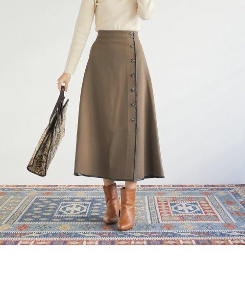 パイピングフレアスカート