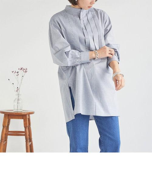 オックスバンドカラータックシャツ