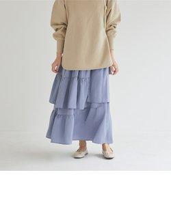 ランダムティアードロングスカート