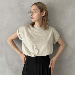 綿100% 袖折り返しTシャツ