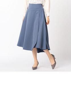 ラップフレアーマキシスカート