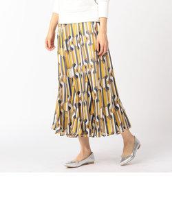 ラメシフォン幾何学ロングスカート