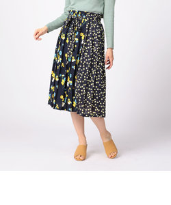 MIX FLOWERプリーツスカート