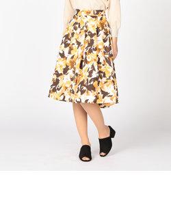 花柄タックスカート