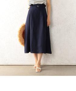 綿麻共ベルト付スカート