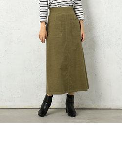 シャツコール張りポケAラインスカート