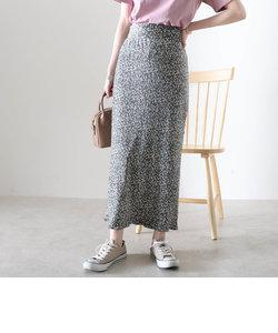 花柄プリーツタイトスカート