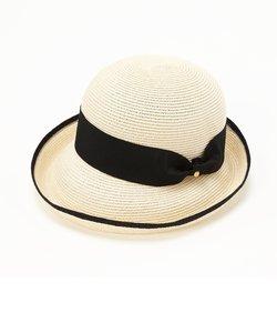 [トプカピ] TOPKAPI ペーパーブレードリボン付き・エッジアップ帽